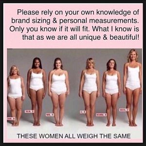 Know your size in different labels